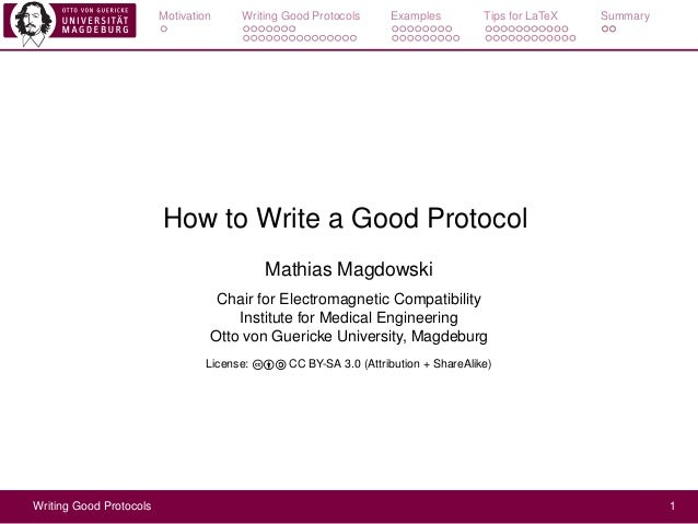 How to Write a Good Protocol
