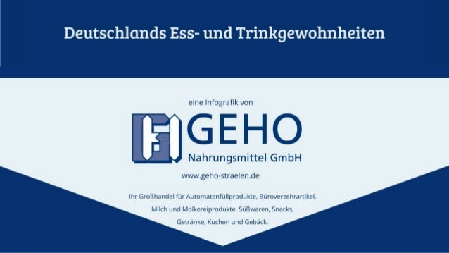 Deutschlands Ess- und Trinkgewohnheiten - GEHO Nahrungsmittel Großhandel