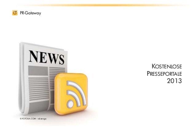 PR-Gateway                            KOSTENLOSE                           PRESSEPORTALE                                  ...