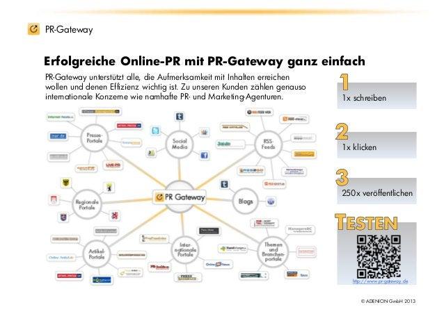 PR-GatewayErfolgreiche Online-PR mit PR-Gateway ganz einfachPR-Gateway unterstützt alle, die Aufmerksamkeit mit Inhalten e...