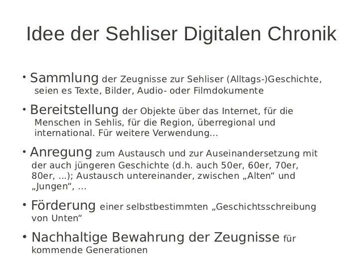 "Kurzvorstellung ""Sehliser Digitale Chronik"" am 16.3.2012 Slide 3"