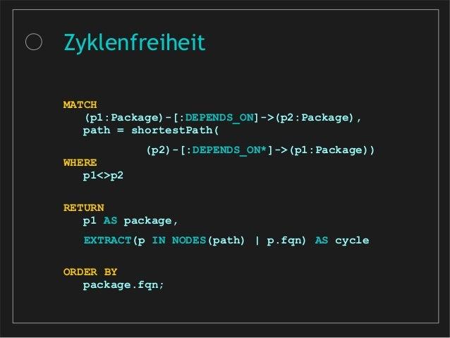MATCH (c:Class)-[:DEPENDS_ON]->(d:Type {fqn: 'org.jmock.Mockery'}) WHERE not(c.fqn =~ 'de.kontext_e.tim.EmployeeTest') and...