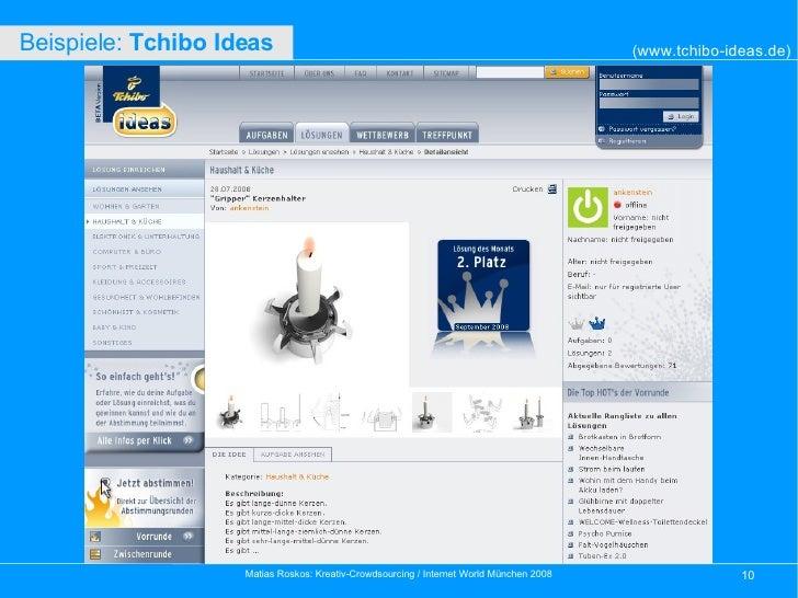 (www.tchibo-ideas.de) Beispiele:  Tchibo Ideas