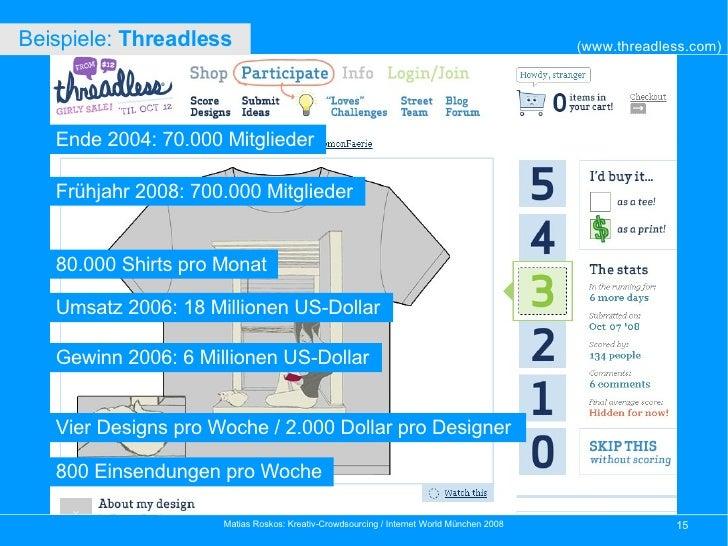 Ende 2004: 70.000 Mitglieder Frühjahr 2008: 700.000 Mitglieder Umsatz 2006: 18 Millionen US-Dollar Gewinn 2006: 6 Millione...