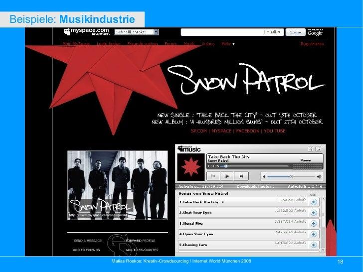 Beispiele:  Musikindustrie