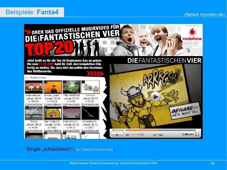 """Single """"Ichisichisich""""  ( Zur Fanta4-Contest-Seite ) (fanta4.myvideo.de) Beispiele:  Fanta4"""