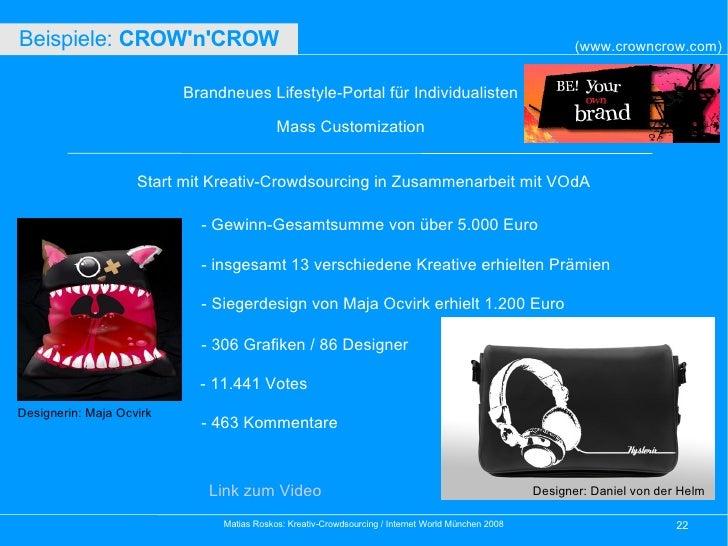 Brandneues Lifestyle-Portal für Individualisten Mass Customization Start mit Kreativ-Crowdsourcing in Zusammenarbeit mit V...