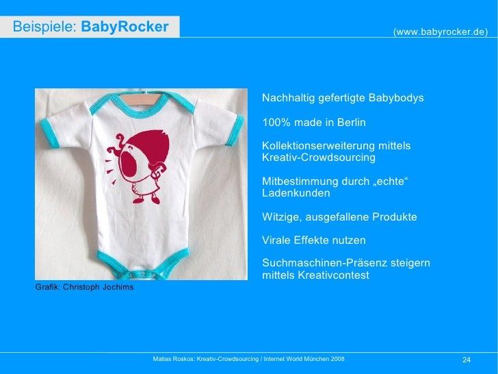 Nachhaltig gefertigte Babybodys 100% made in Berlin Kollektionserweiterung mittels  Kreativ-Crowdsourcing Mitbestimmung du...