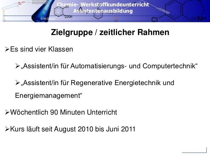 """Zielgruppe / zeitlicher Rahmen<br />Es sind vier Klassen<br />""""Assistent/in für Automatisierungs- und Computertechnik""""<br ..."""