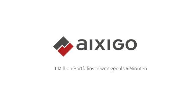 1 Million Portfolios in weniger als 6 Minuten