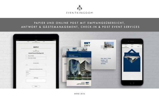 Einladungs- und Gästemanagement - Online und Papier - für Geschaeftsk…