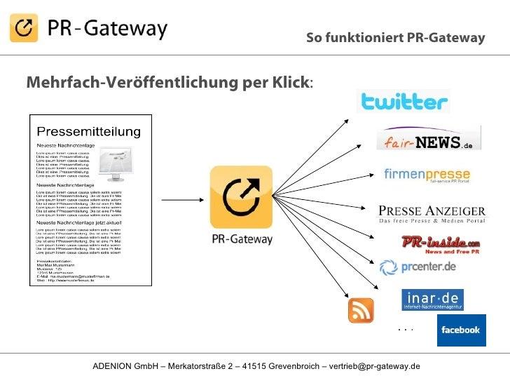 Mehrfach-Veröffentlichung per Klick : So funktioniert PR-Gateway