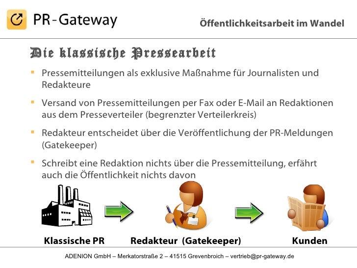 <ul><li>Die klassische Pressearbeit </li></ul><ul><li>Pressemitteilungen als exklusive Maßnahme für Journalisten und Redak...