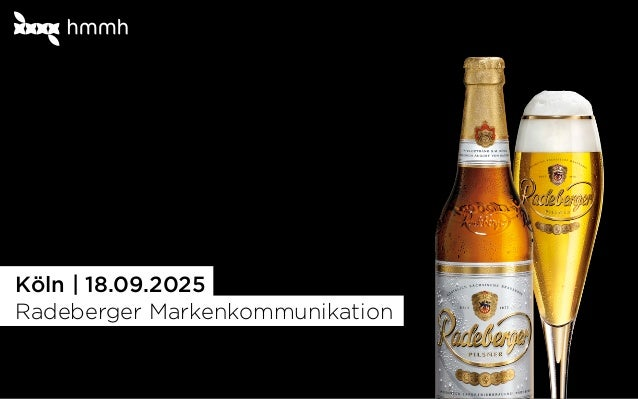 1 Köln | 18.09.2025 Radeberger Markenkommunikation