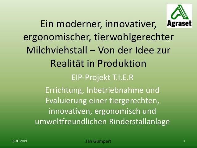 Ein moderner, innovativer, ergonomischer, tierwohlgerechter Milchviehstall – Von der Idee zur Realität in Produktion EIP-P...