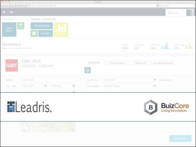 Leadris ist ein Leadgenerierungstool speziell für Messen und Events :: Planung des Messeauftrittes auf Marketingseite! :: ...