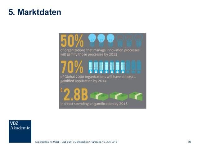 5. Beispiele gelungener Gamification Expertenforum: Mobil – und jetzt? / Gamification / Hamburg, 12. Juni 2013 24