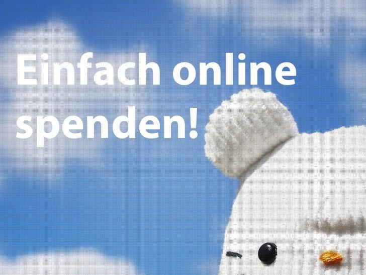 Einfach onlinespenden!