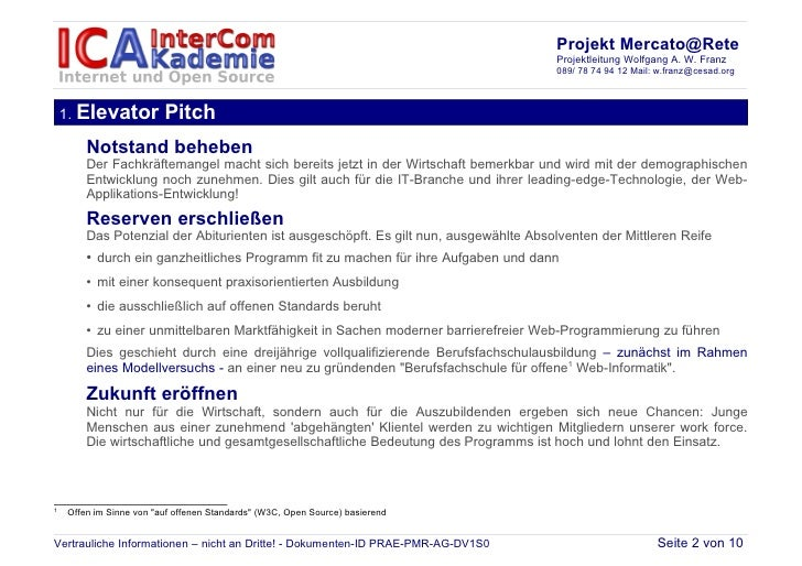 Projekt Mercato@Rete                                                                                      Projektleitung W...