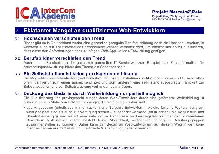 Projekt Mercato@Rete                                                                                   Projektleitung Wolf...