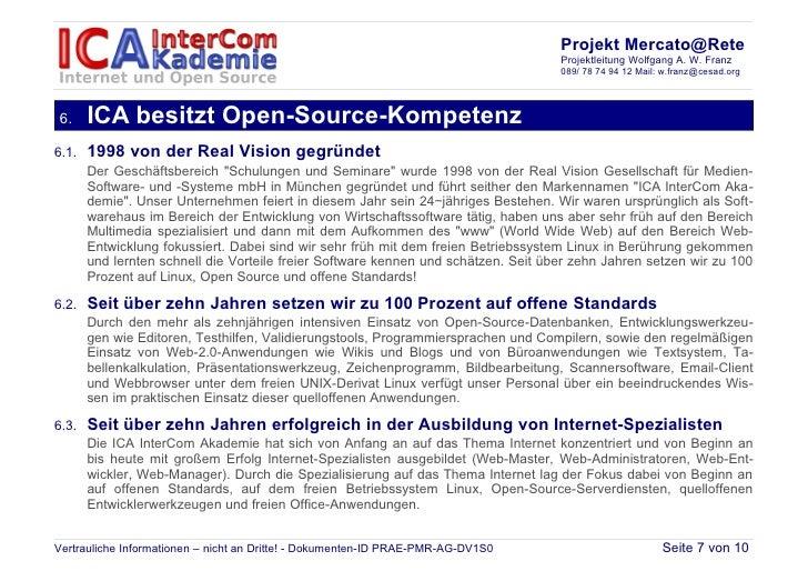 Projekt Mercato@Rete                                                                                    Projektleitung Wol...