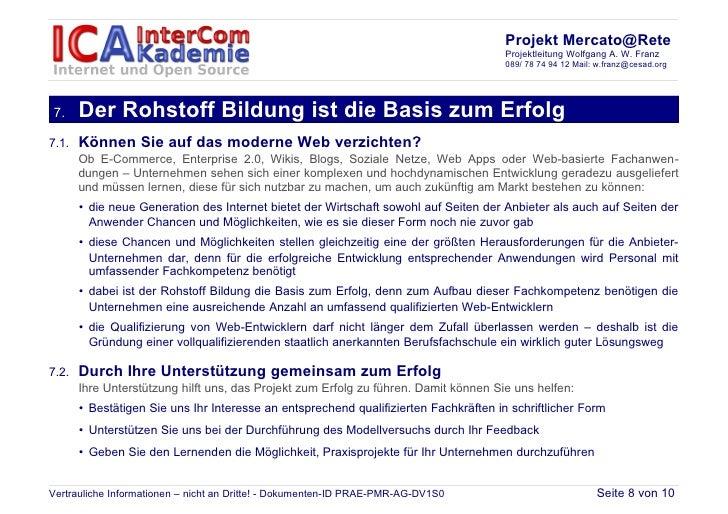 Projekt Mercato@Rete                                                                                       Projektleitung ...