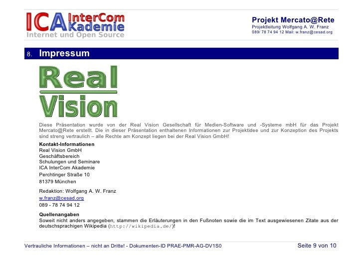 Projekt Mercato@Rete                                                                                            Projektlei...