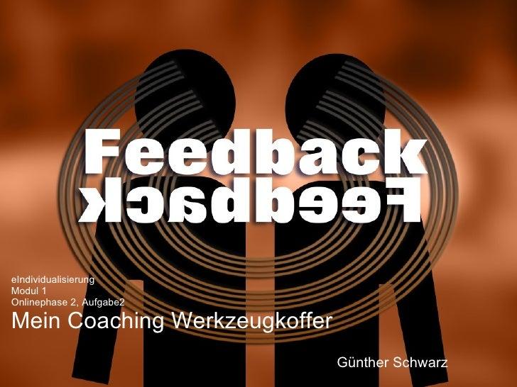 eIndividualisierung Modul 1 Onlinephase 2, Aufgabe2 Mein Coaching Werkzeugkoffer Günther Schwarz