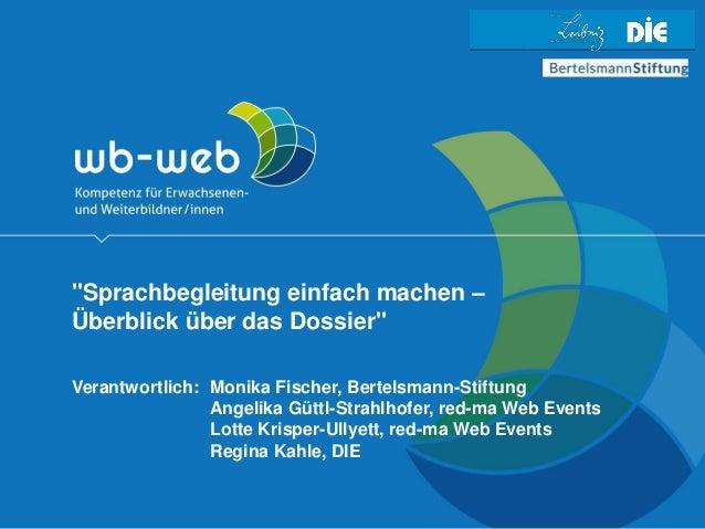"www.wb-web.de | 03/2017 | Seite 1 Mastertitelformat bearbeiten •Master-Untertitelformat bearbeiten ""Sprachbegleitung einfa..."