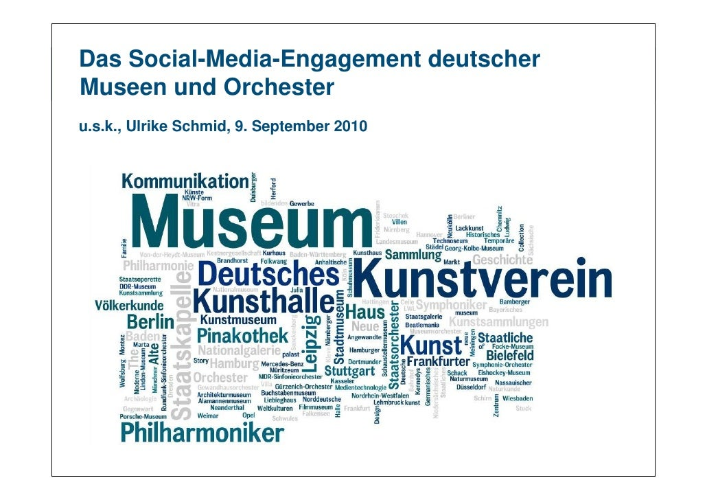 Das Social-Media-Engagement deutscher Museen und Orchester