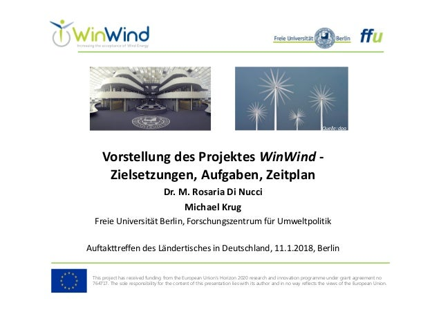 Vorstellung des Projektes WinWind  Quelle: dpa This project has received funding from the European Union's Horizon 2020 r...