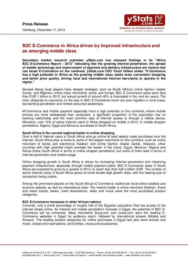 Press Release Hamburg, December 11, 2013  RESEARCH ON INTERNATIONAL MARKETS WE DELIVER THE FACTS YOU MAKE THE DECISIONS  B...
