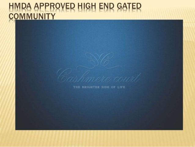 Cashmere Court : 112 Villas At Mokilla Close To Gachibowli,Hyderabad Slide 2