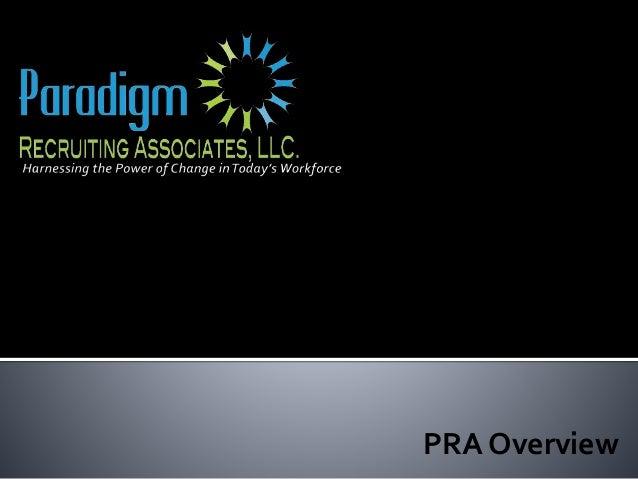 PRA Overview