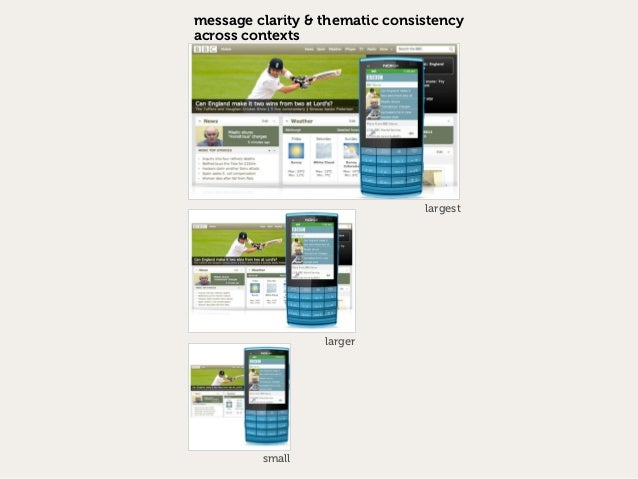 message clarity & thematic consistencyacross contexts                                largest                  larger      ...