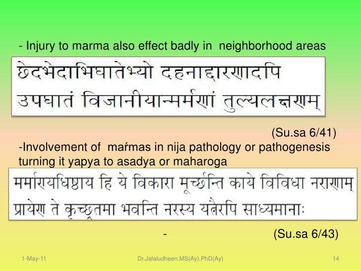 Bhaskara</li></li></ul><li>1-May-11<br />Dr.Jalaludheen.MS(Ay),PhD(Ay)<br />8<br />Definitions<br />The locations where pu...