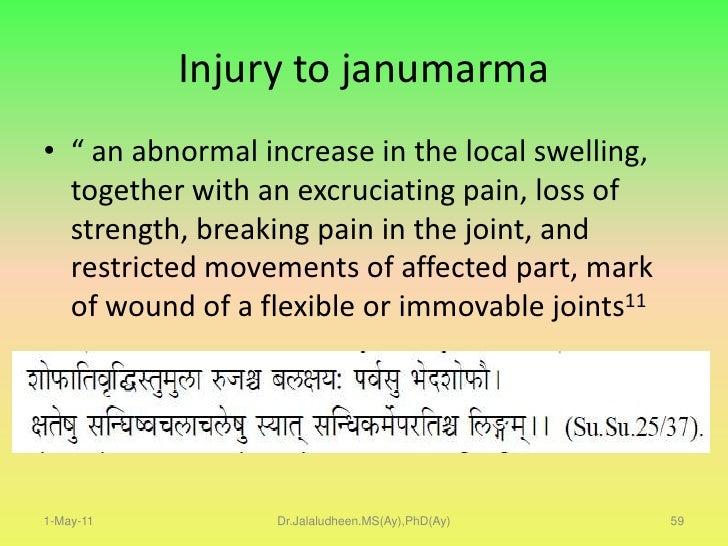 Loss of consciousness.</li></li></ul><li>1-May-11<br />Dr.Jalaludheen.MS(Ay),PhD(Ay)<br />40<br />HOW MARMA THEORY WORKS<b...