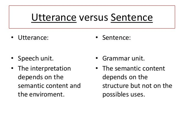 distinguishing a sentence from an utterance Distinguish definition: use distinguish in a sentence present participle distinguishing.