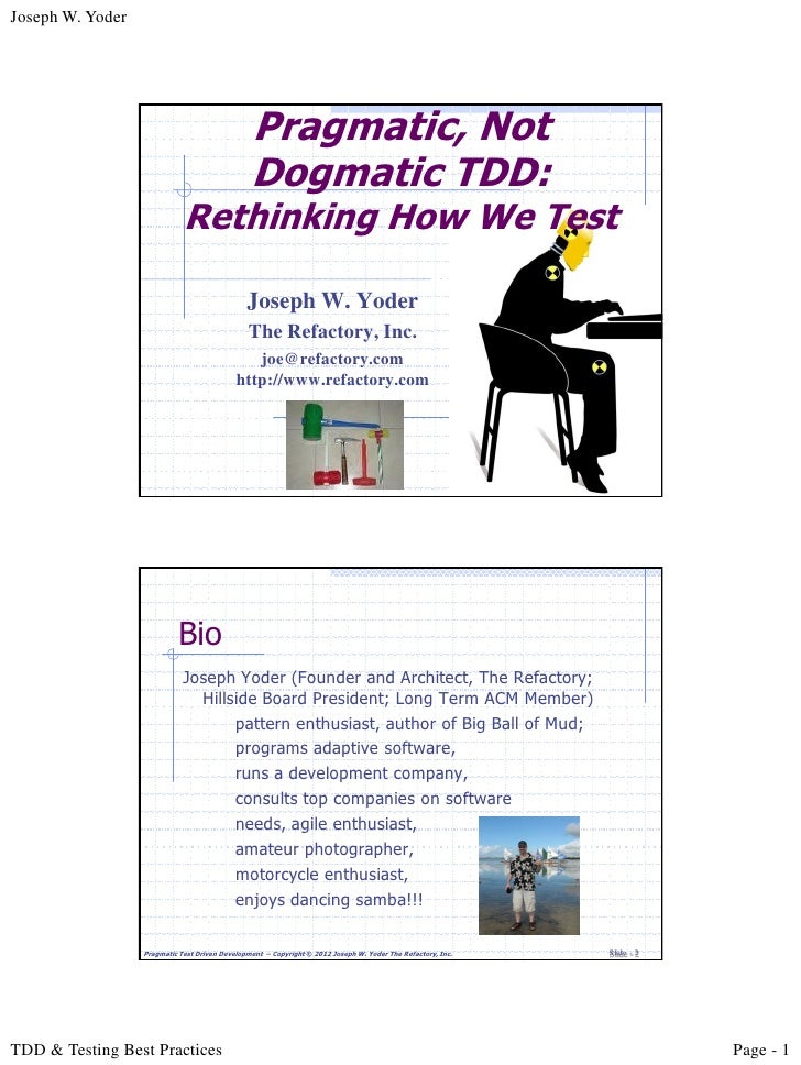 Joseph W. Yoder                                                Pragmatic, Not                                             ...