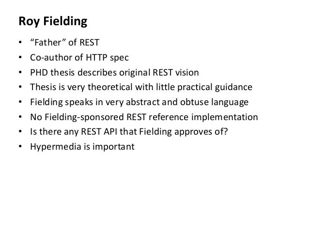 Rest thesis fielding