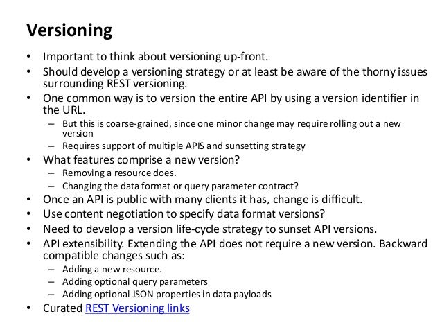 Rest api versioning strategy