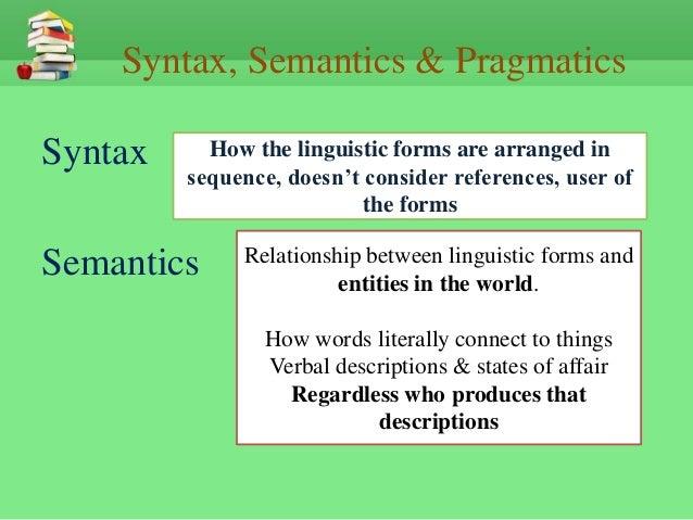 relationship between syntactic semantics and pragmatics of humor