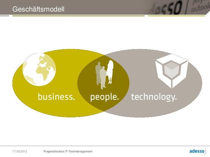 Pragmatisches IT-Testmanagement - QS mit PITPM Slide 3