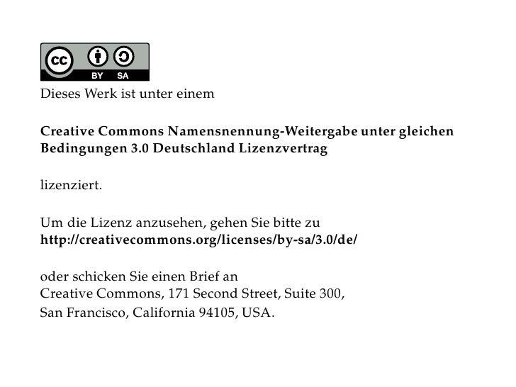 Dieses Werk ist unter einem  Creative Commons Namensnennung-Weitergabe unter gleichen Bedingungen 3.0 Deutschland Lizenzve...