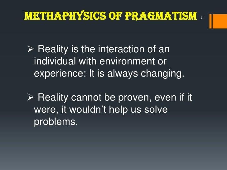 Environmental pragmatism essay