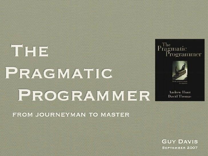 Pragmatic Programmer