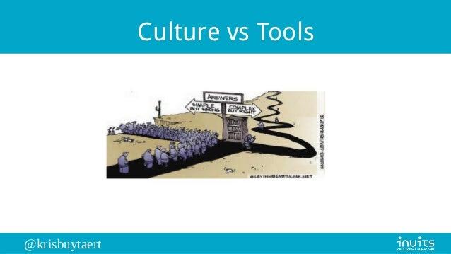@krisbuytaert Culture vs Tools
