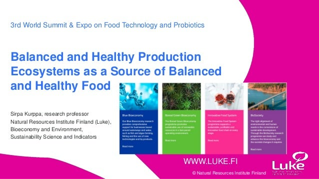 Balanced and Healthy Production Ecosystems as a Source of Balanced an…