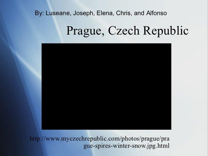 Prague, Czech Republic  http://www.myczechrepublic.com/photos/prague/prague-spires-winter-snow.jpg.html By: Luseane, Josep...