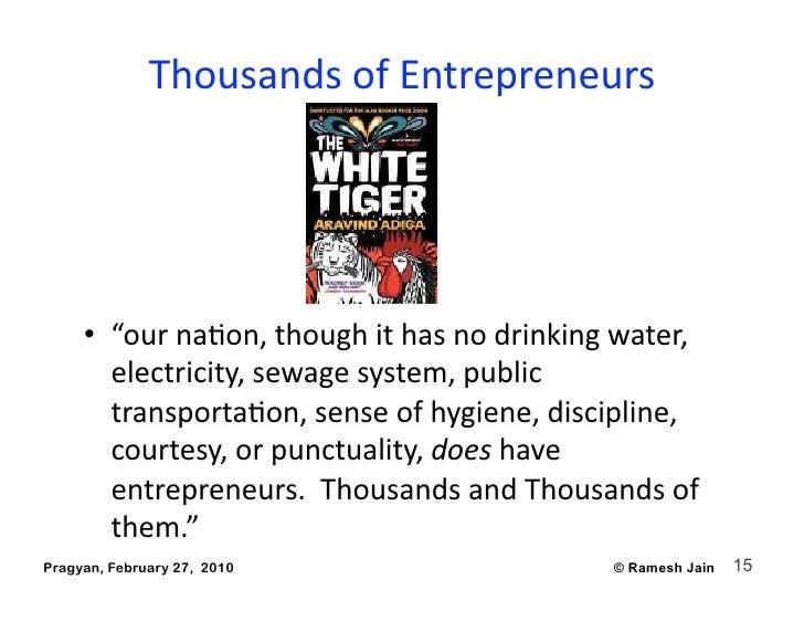 "ThousandsofEntrepreneurs                                                  • ""ournaAon,thoughithasnodrinkingwate..."